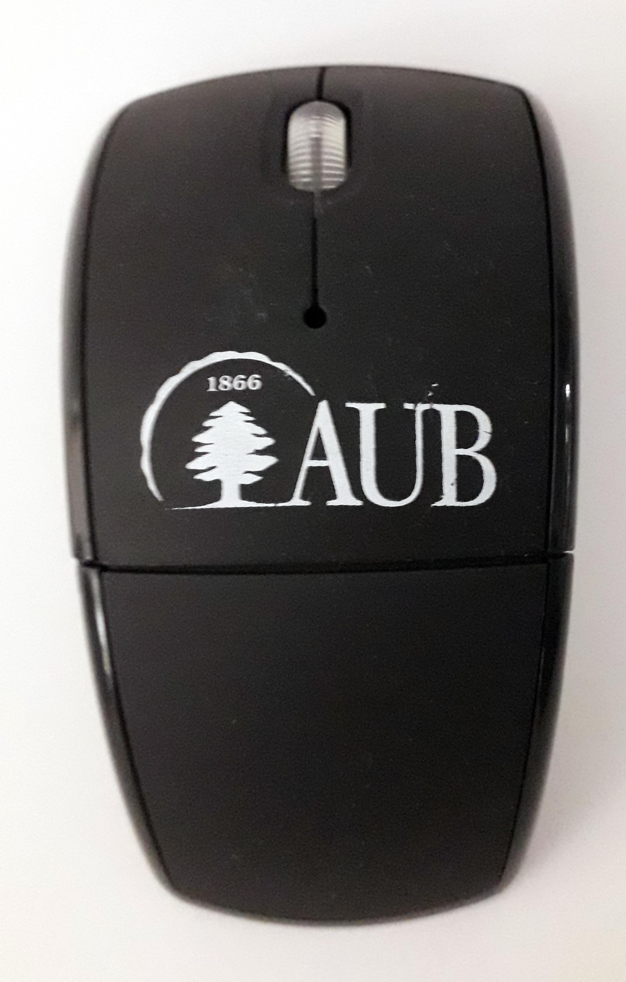 AUB FOLDABLE WIRELESS MOUSE 2.4G BLACK