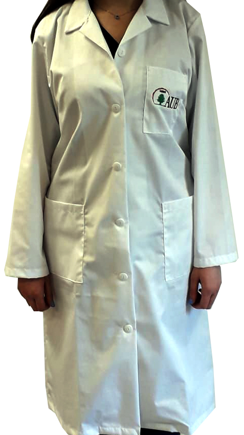 AUB LAB COATS WITH EMBROIDED LOGO MALE XSMALL