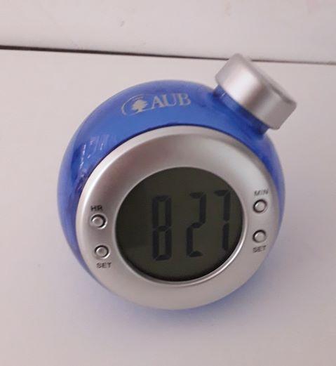 AUB Desk Clock Eco Liquid Blue