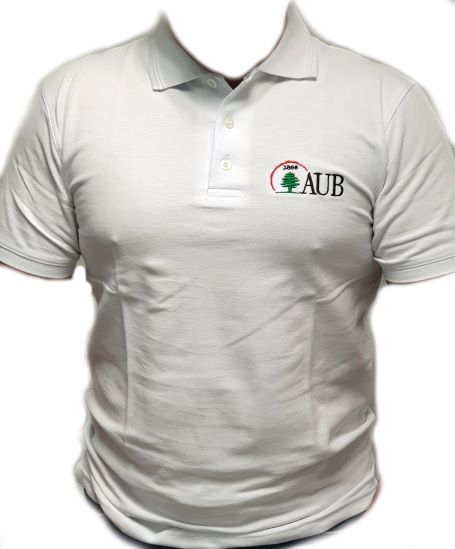 AUB Polo Shirt Short Sleeves | White | Male | Medium