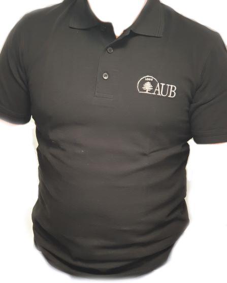 AUB Polo Shirt Short Sleeves   Black   Male   Small