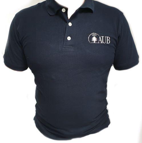 AUB Polo Shirt Short Sleeves   Navy   Male   Small