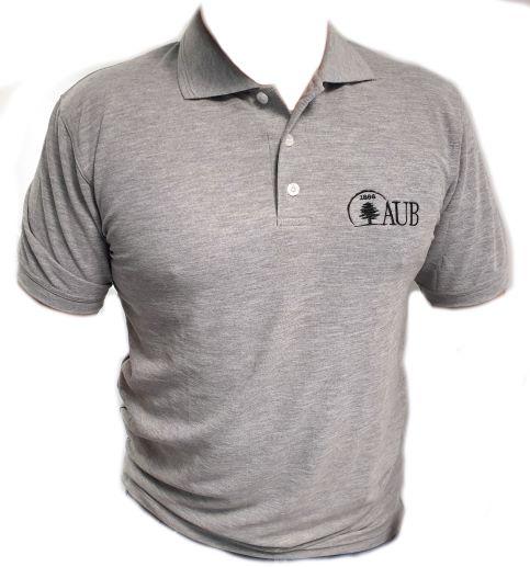 AUB Polo Shirt Short Sleeves    Ash G   Female   X Large