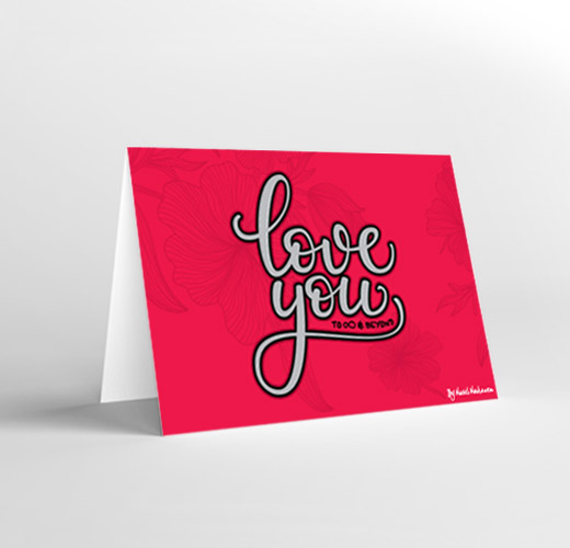 CARD LOVE YOU TO INFINITY AND BEYOND
