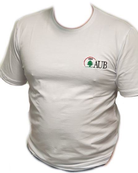 AUB T-SHIRT ROUND NECK SHORT SLEEVES | WHITE | M