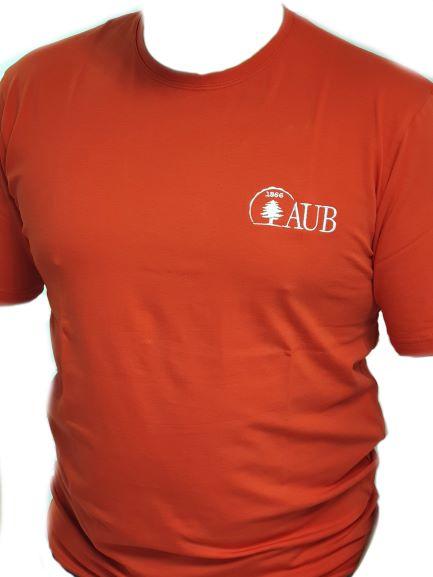 AUB T-SHIRT ROUND NECK SHORT SLEEVES   RED   XL