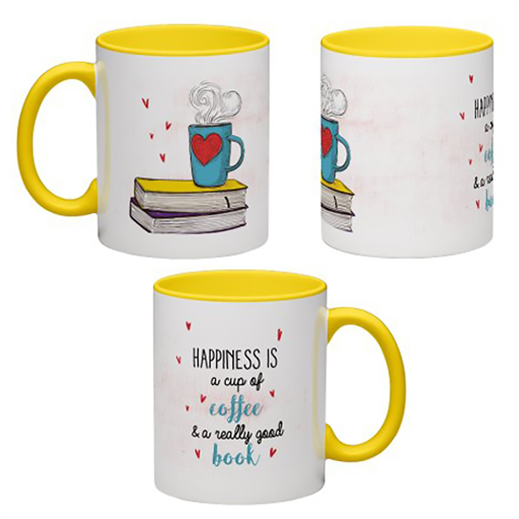 MUG ANTOINE | COFFEE | ''HAPPINESS IS A CUP OF COFFEE AND A REALLY GOOD BOOK''
