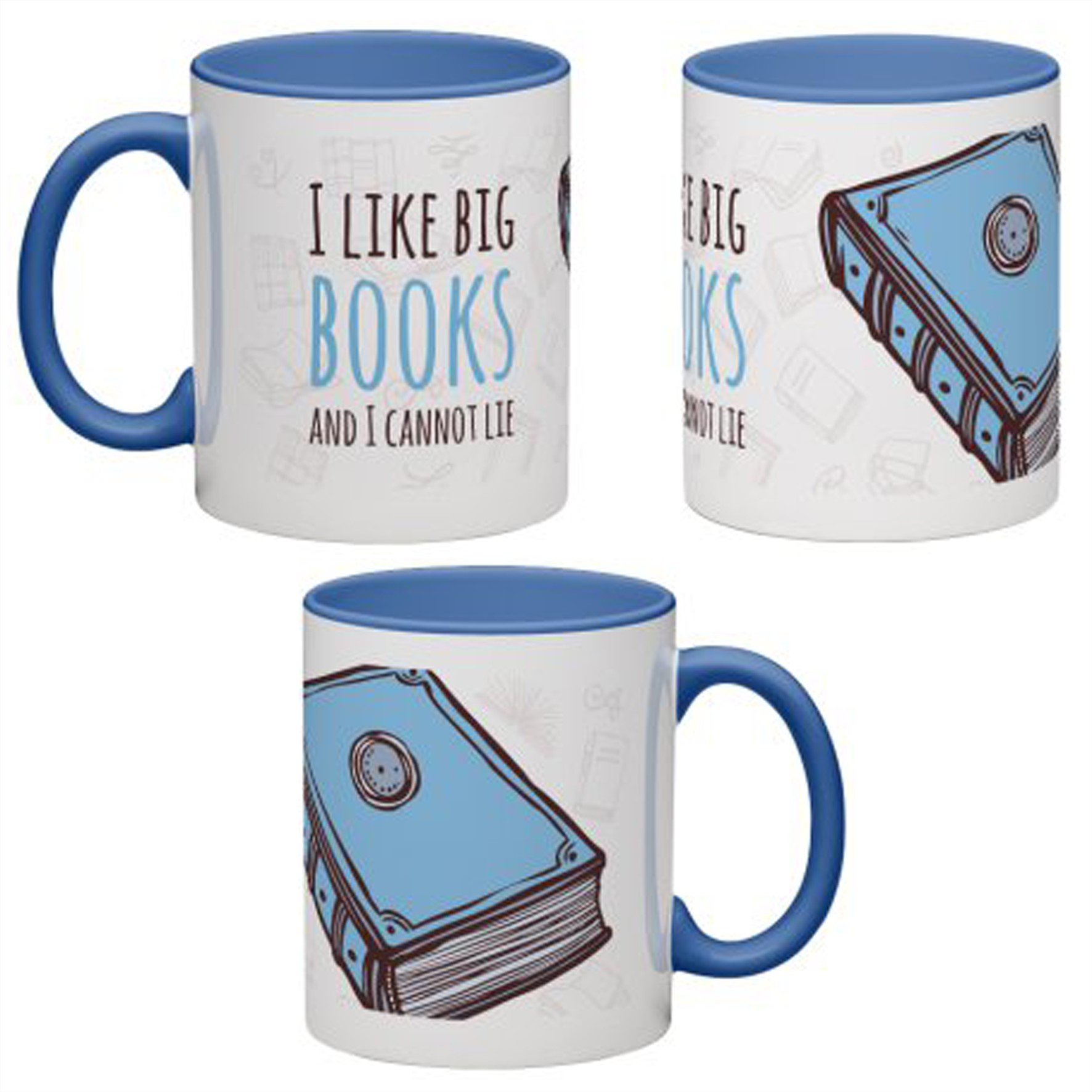 MUG ANTOINE | COFFEE | ''I LIKE BIG BOOKS AND I CANNOT LIE''