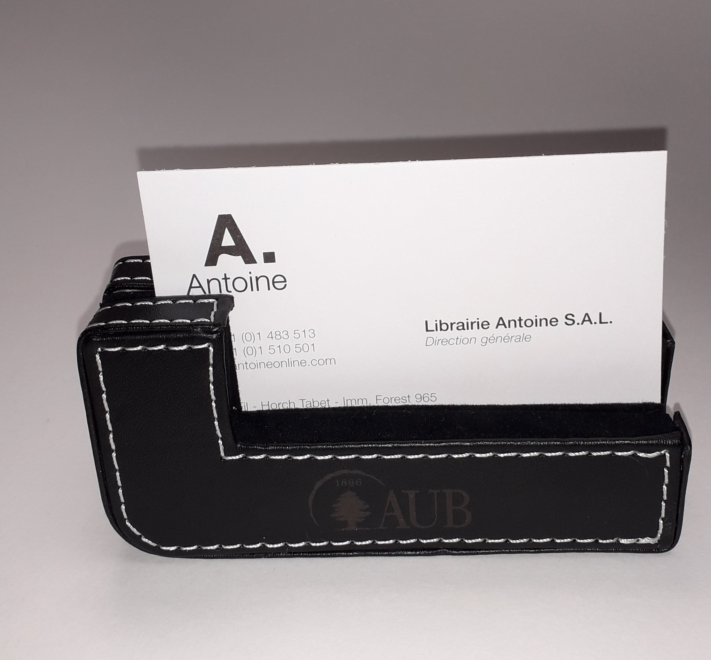 AUB Desk Card Holder Black