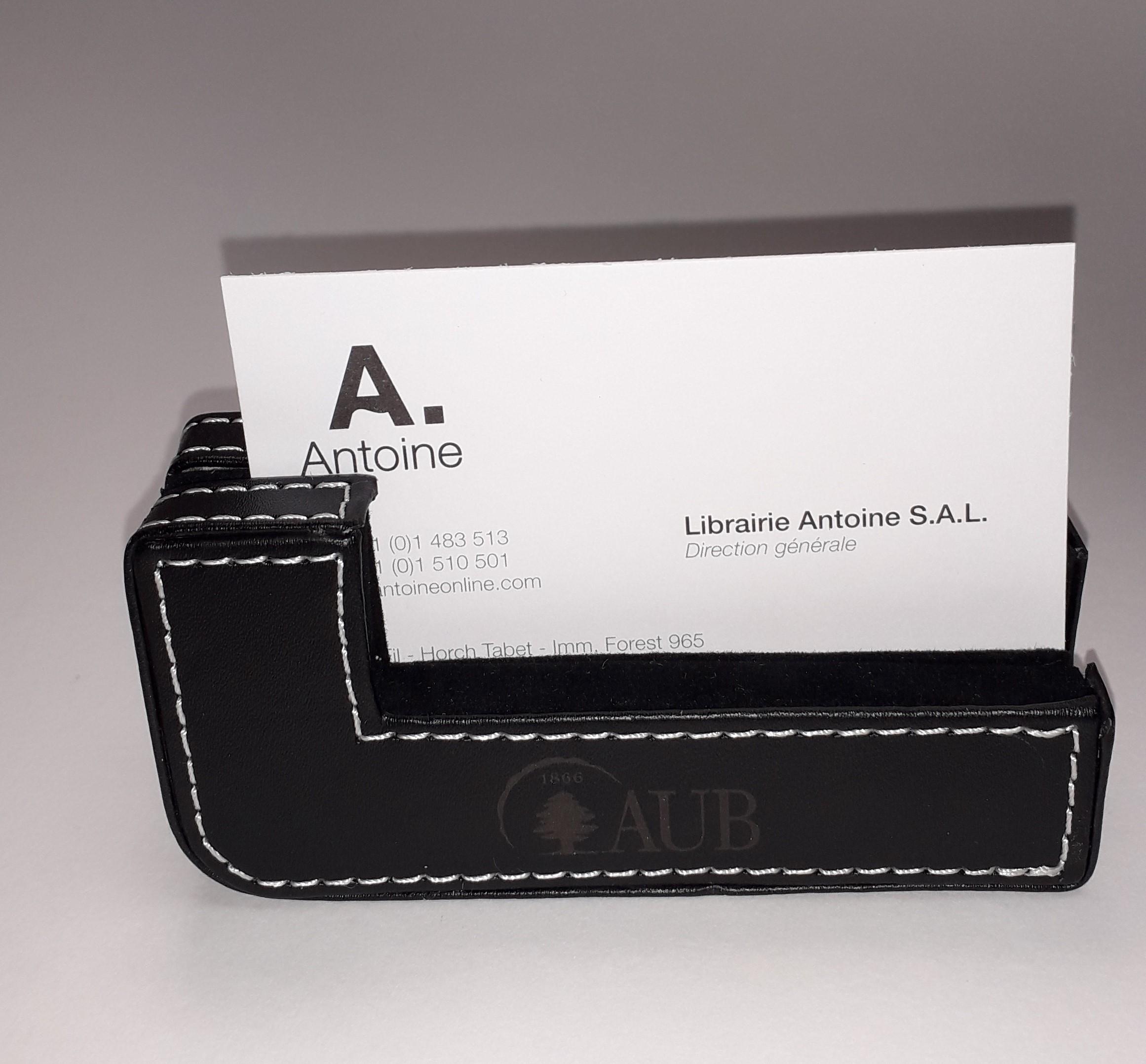 AUB Desk Card Holder Black
