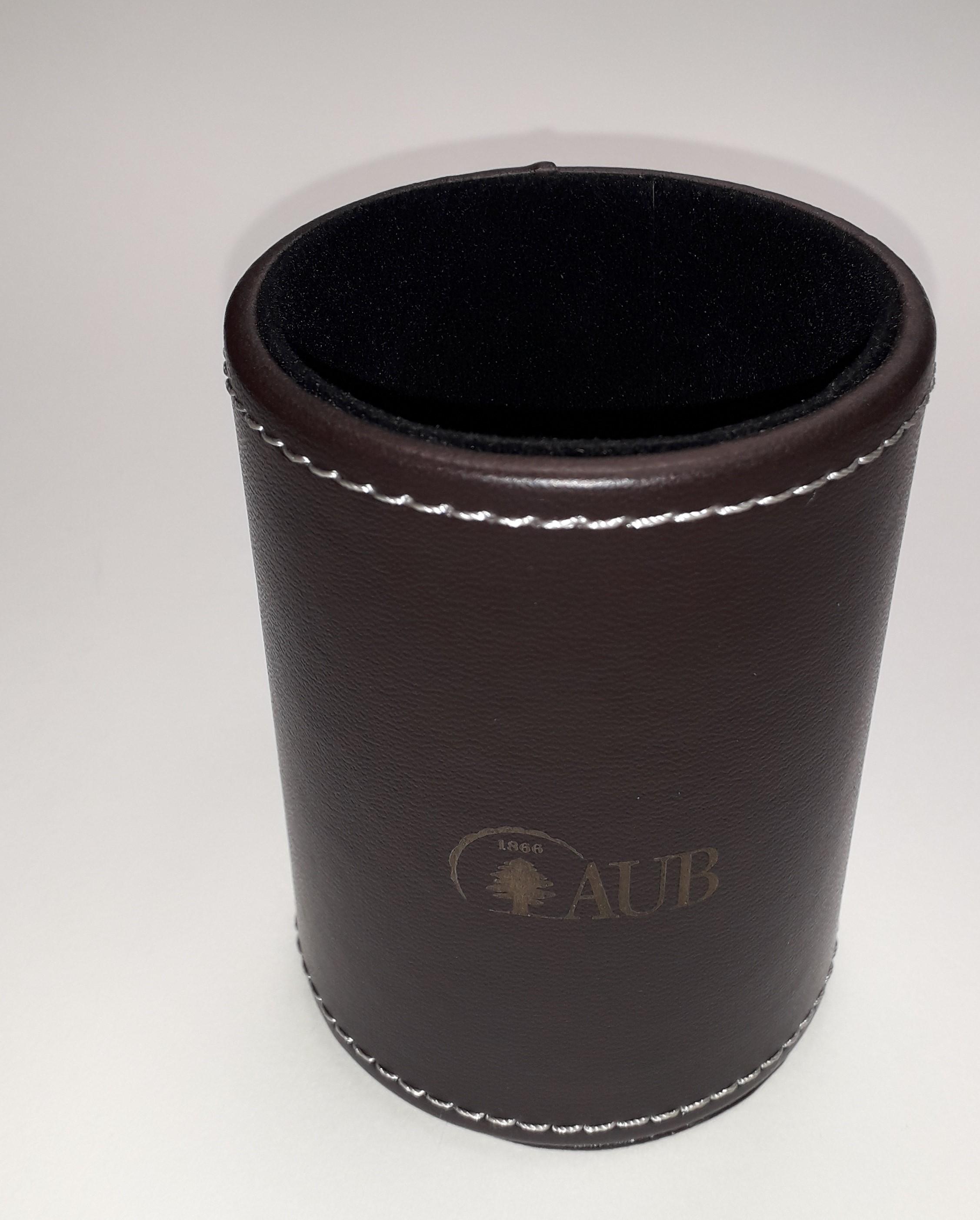AUB Desk Set Leather Dark Brown