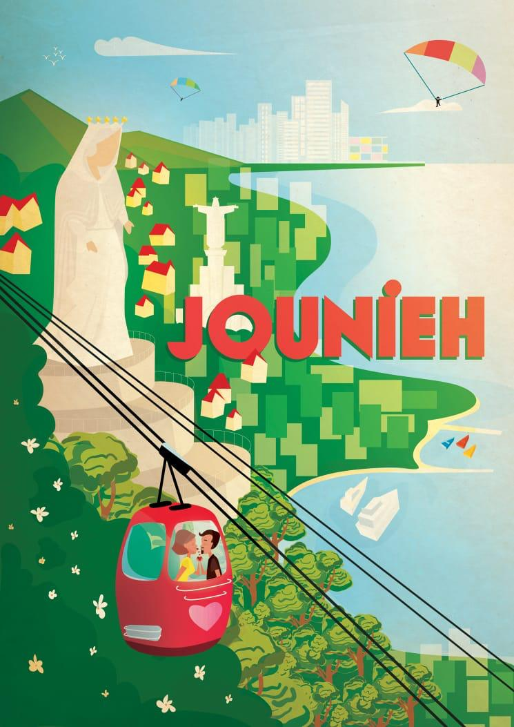 Vintage Beirut | Poster Jounieh | A1