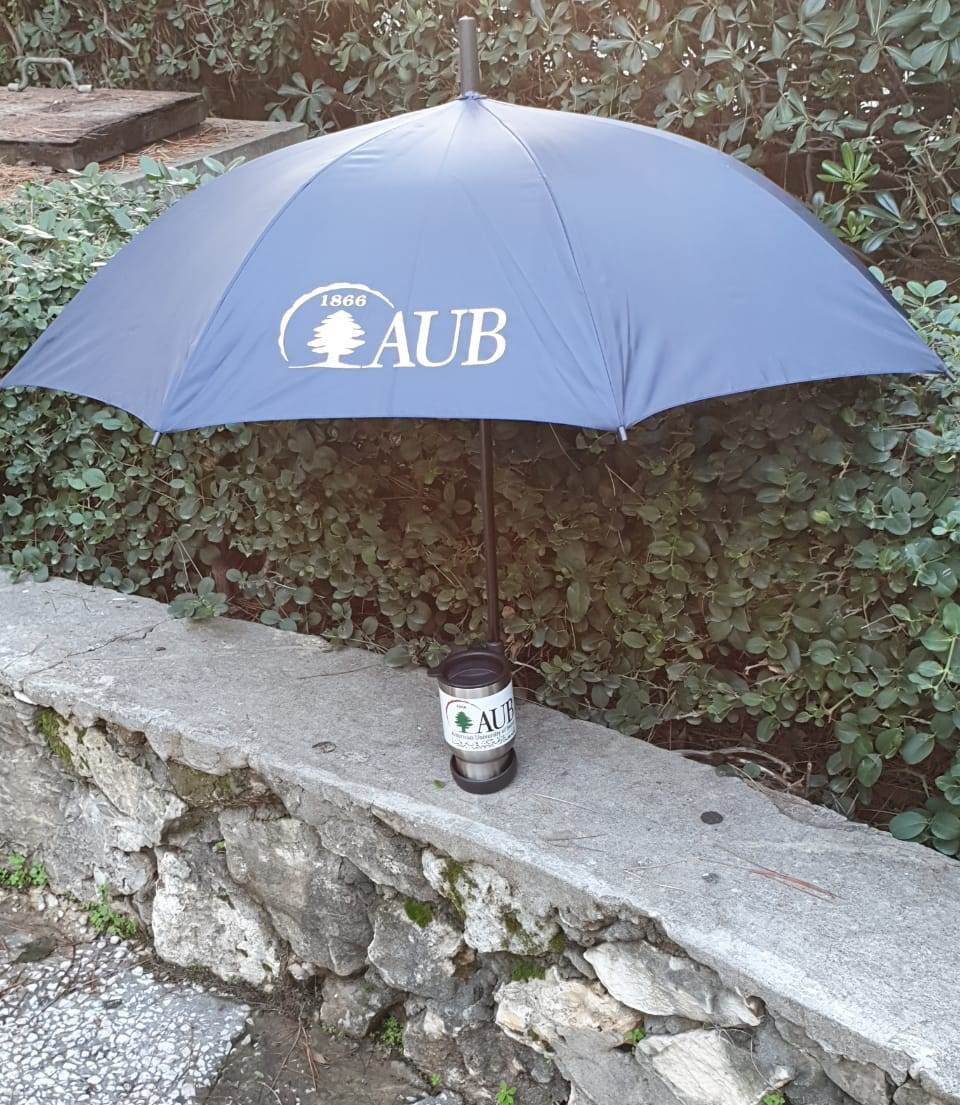 AUB   Umbrella   Coffee Cup   Navy Blue