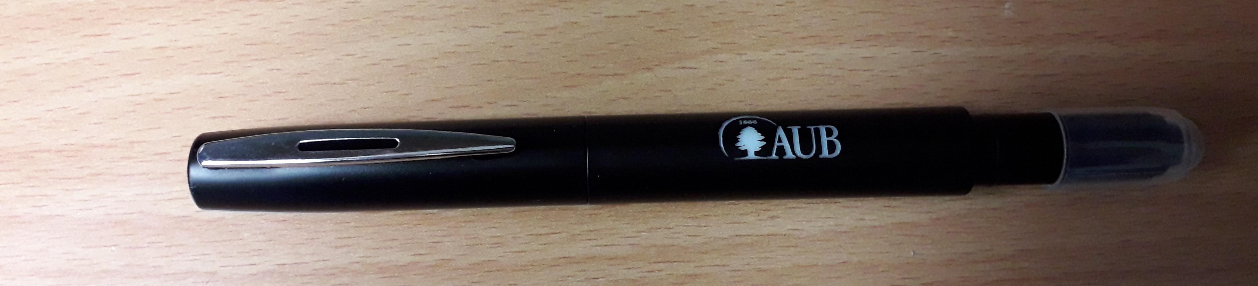 AUB   Ball Pen   Laser   W/Stylus   Black