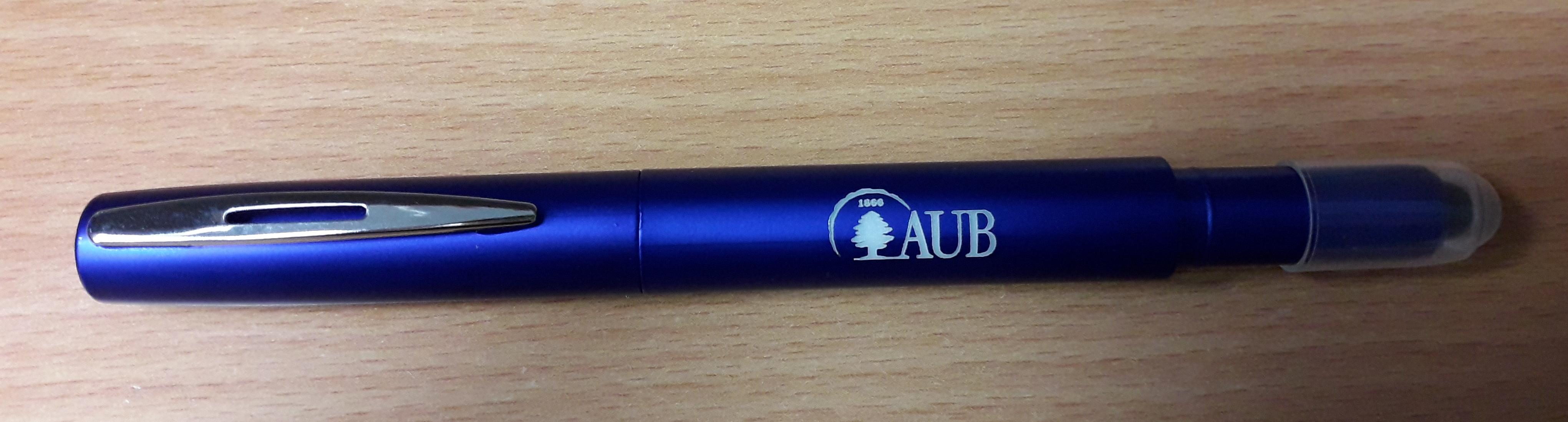 AUB   Ball Pen   Laser   W/Stylus   Blue