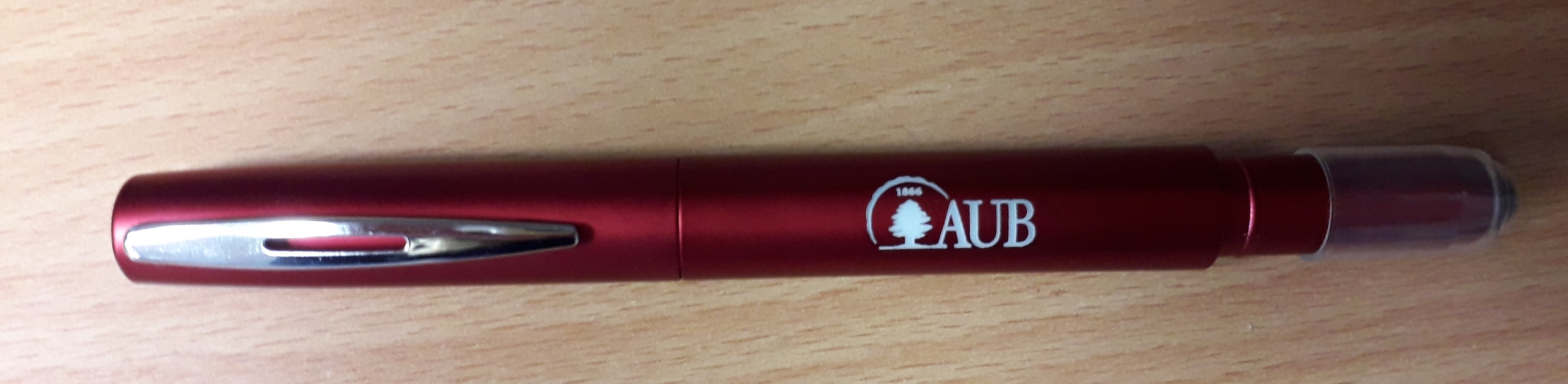 AUB | Ball Pen | Laser | W/Stylus | Red