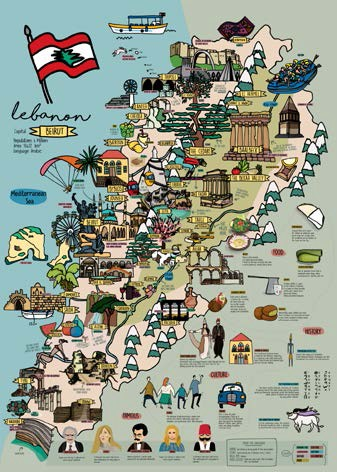 POSTER LEBANON MAP