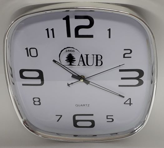 AUB Wall Clock Square 35*35 cm White