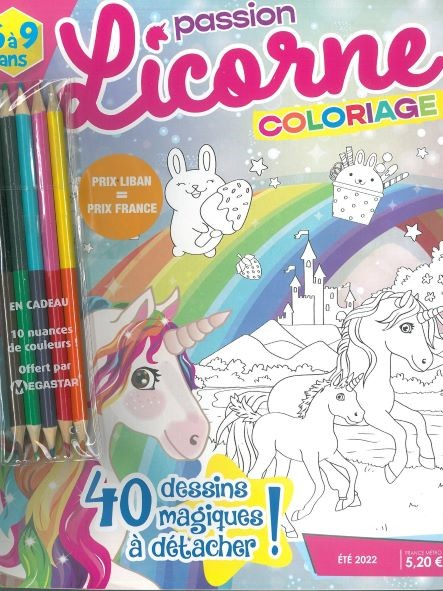 MG PASSION LICORNE COLORIAGE N8