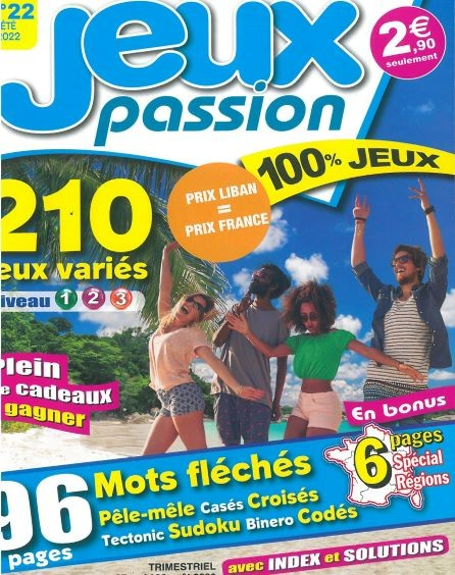 MG JEUX PASSION N15