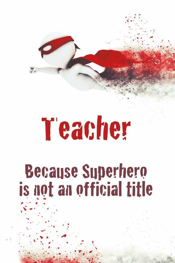Teacher's Day card  Superhero