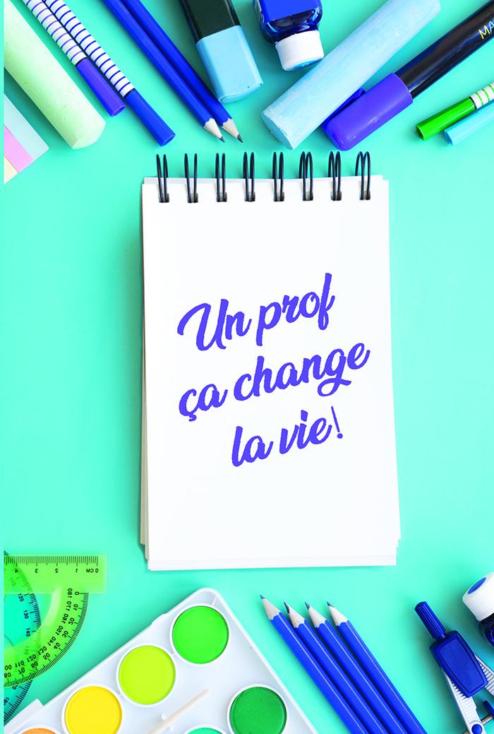 Teacher's Day Card  Un prof a change la vie