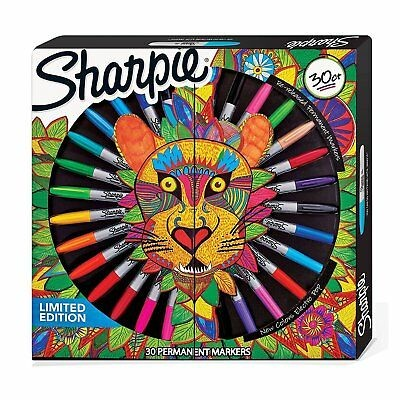 Sharpie fine permanent marker Lion pack of 30