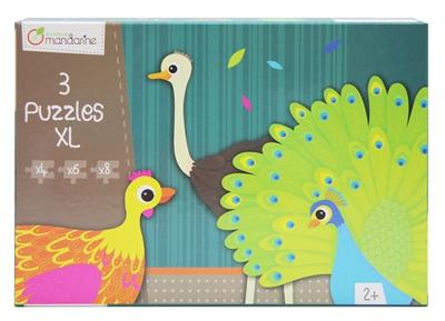 3 Puzzles formes animaux à plumes