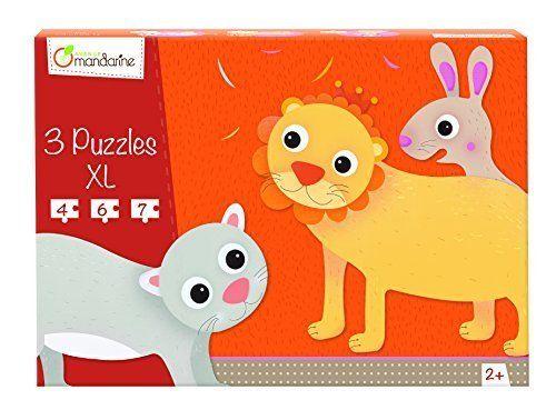 3 Puzzles formes animaux poilus