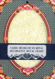 PAPERDOLLS DE PARIS CADRE DECORTIF EN METAL