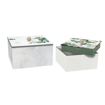 CF HEDERA SQAURED NESTED BOX S (16 x 16 x 11cm)