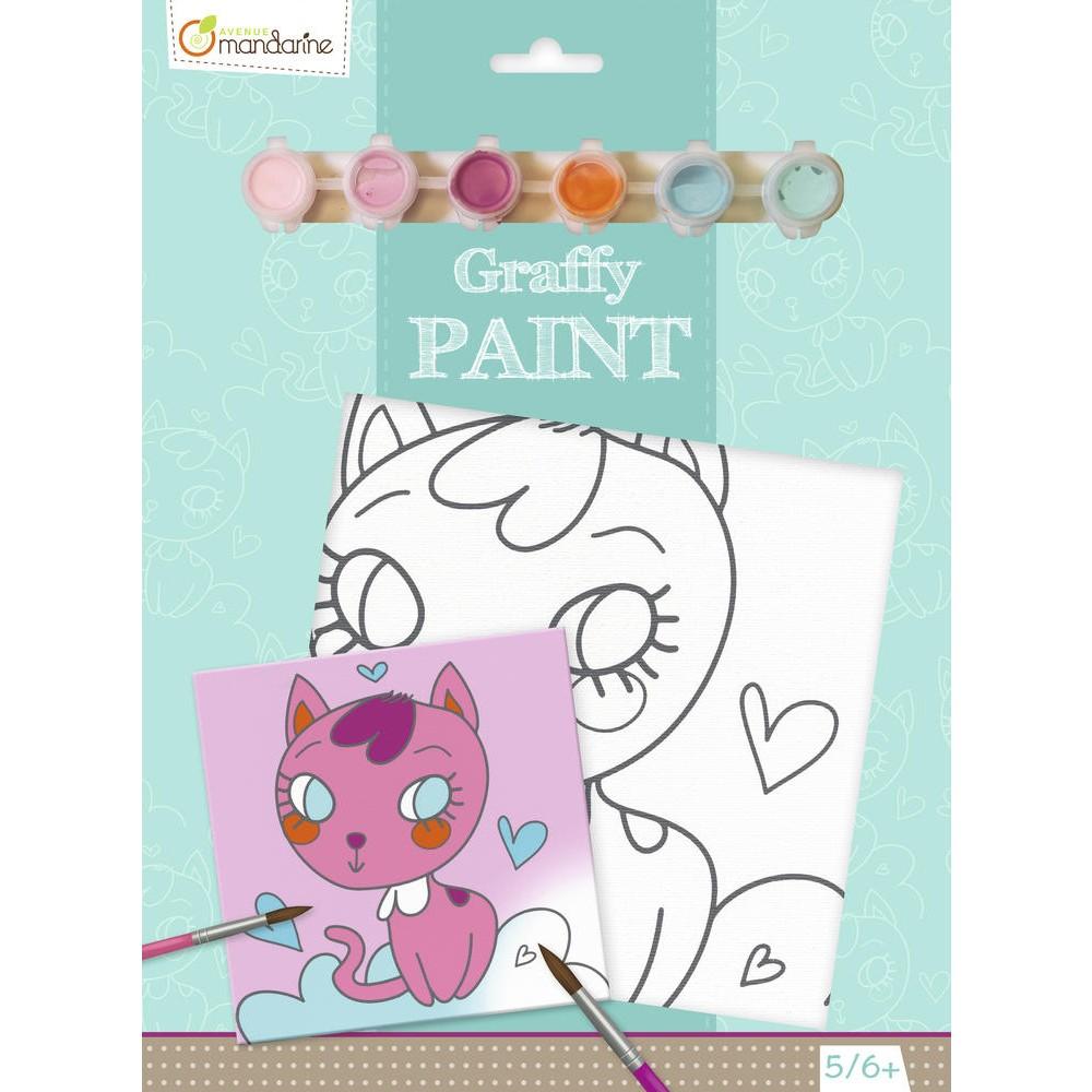 Graffy Paint Chat Coeur
