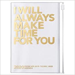 2020 Diary A6 vertical, MAKE TIME // Gold
