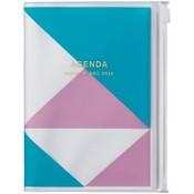 2020 Diary A6 vertical, Geometric // Blue
