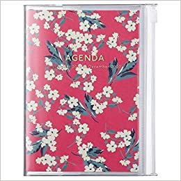 2020 Diary A6 vertical, Flower // Red