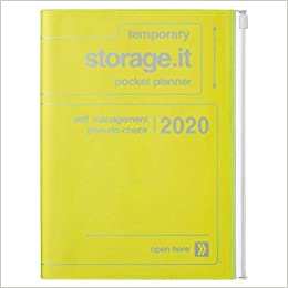 2020 Diary A5 vertical, Storage.it // Neon Yellow