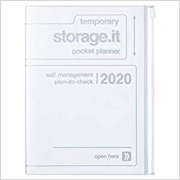 2020 Diary A5 vertical, Storage.it // White