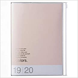 2020 Diary A5 vertical, Colors // Pink Beige
