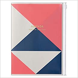 2020 Diary A5 vertical, Geometric // Pink
