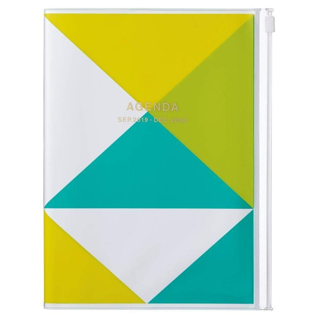 2020 Diary A5 vertical, Geometric // Yellow