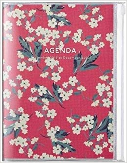 2020 Diary A5 vertical, Flower // Red