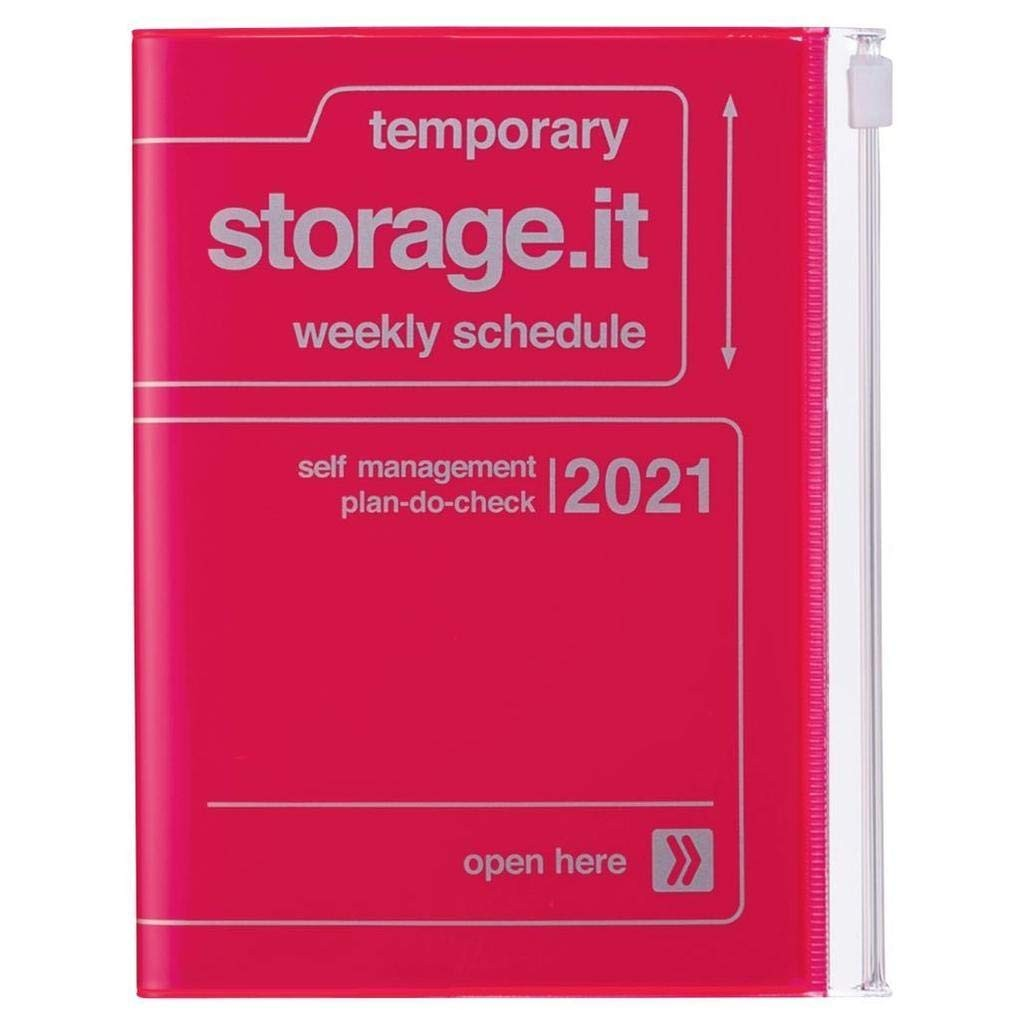 2021 Diary A6 Storage.it // Neon Pink