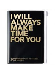 2021 Diary A6 Make time // Black