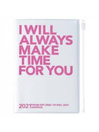 2021 Diary A6 Make time // Pink