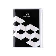 2021 Diary A6 Geometric // Black