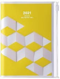 2021 Diary A6 Geometric // Yellow