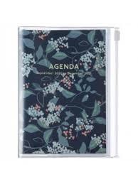 2021 Diary A6 Flower // Navy