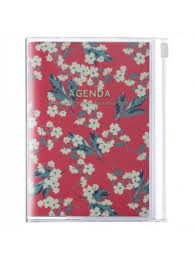 2021 Diary A6 Flower // Red