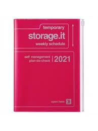 2021 Diary A5 Storage.it // Neon Pink