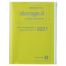 2021 Diary A5 Storage.it // Neon Yellow